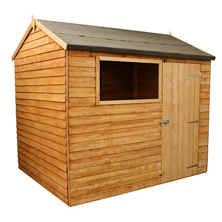 6x8 Overlap Reverse Apex Wooden Shed