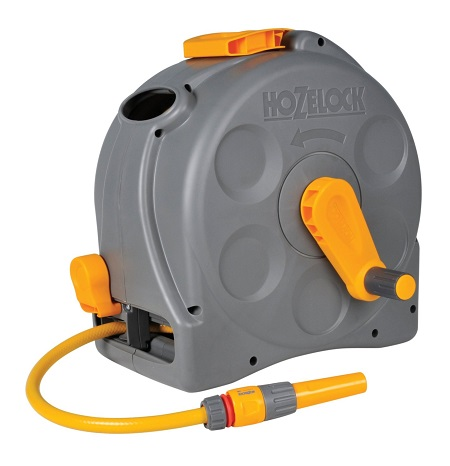 Hozelock 2-in-1 Compact Enclosed Hose Reel