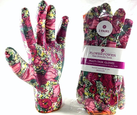 Pairs Ladies Gardening Gloves