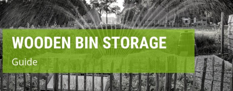 how to make a wooden wheelie bin storage