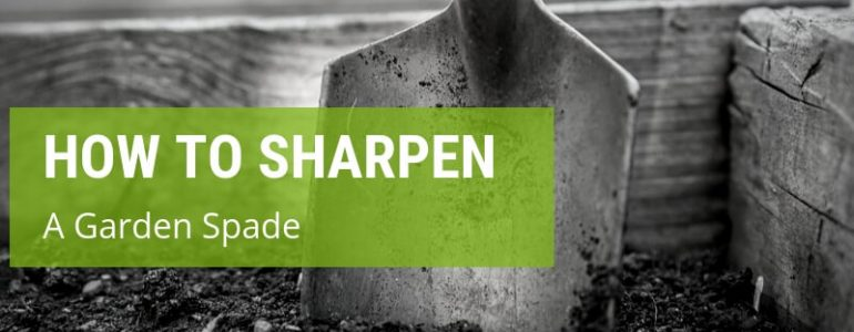 how to sharpen a garden spade