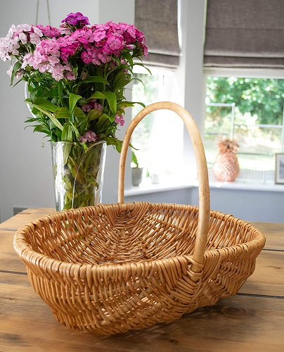 east2eden Honey Wicker Garden Flower Vegetable Trug Basket
